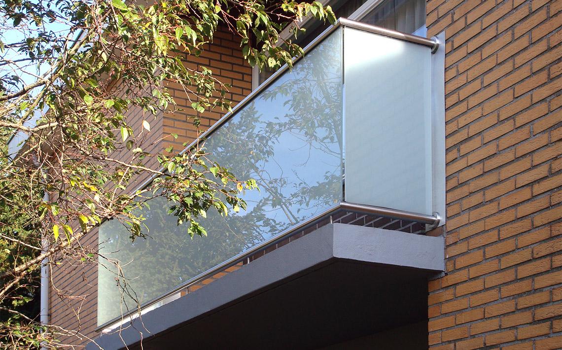 Balkon balustrade glas